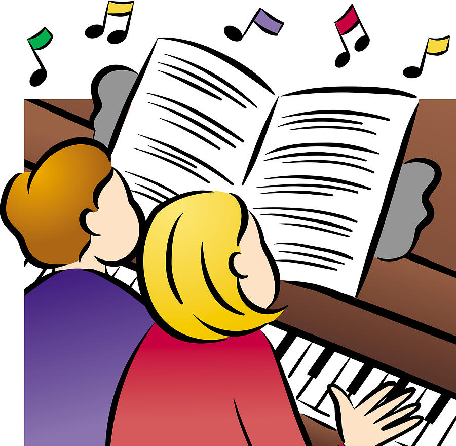 Piano clipart duet Couple Art by Playing Digital