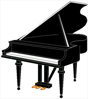 Piano clipart front  Images Keyboards Free Graphics