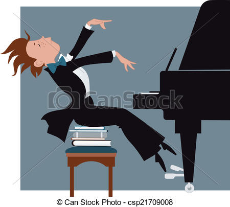 Piano clipart funny Csp21709008 a expressively Clipart