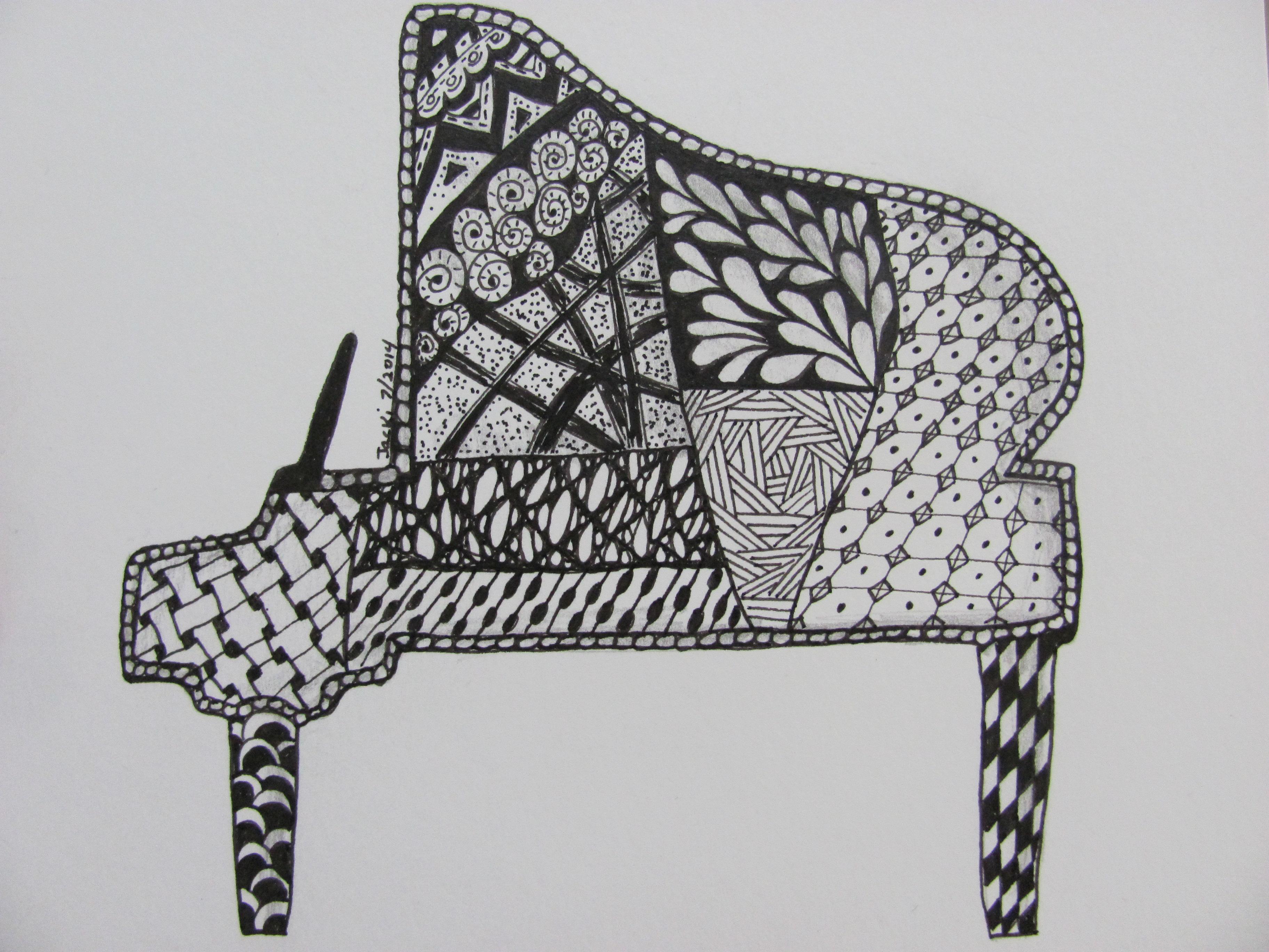 Piano clipart closed