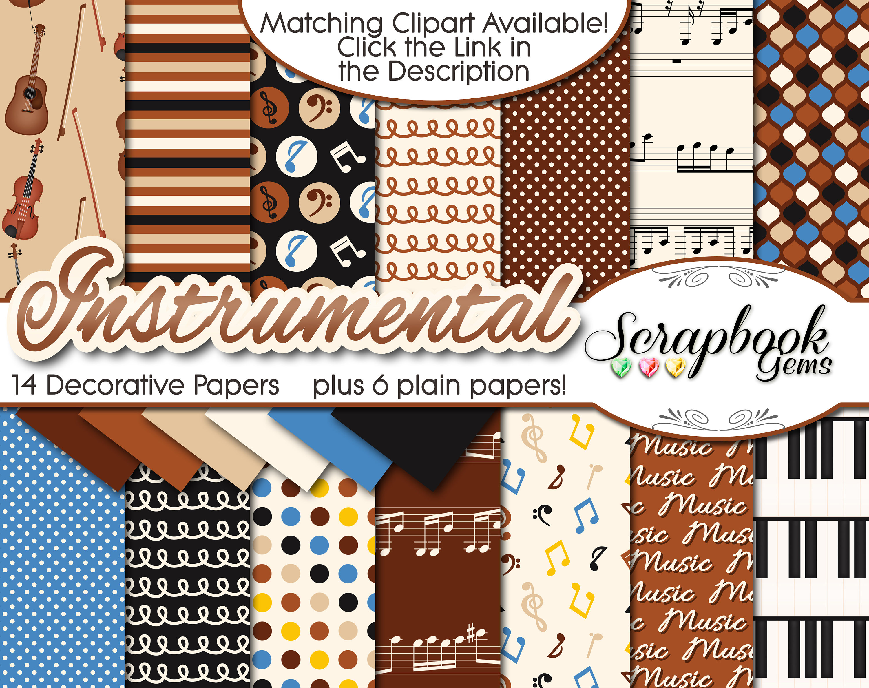 Piano clipart instrumental A digital Kit Clipart 20