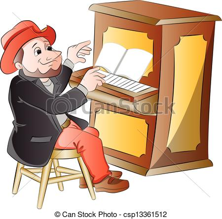 Piano clipart man on Clip Playing  Man the