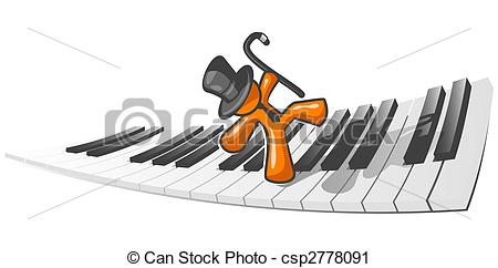 Piano clipart man on  of Man dancing Dancing