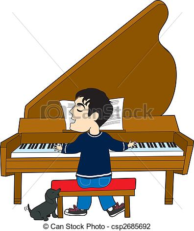 Piano clipart man on Clipart Playing Piano Images Panda