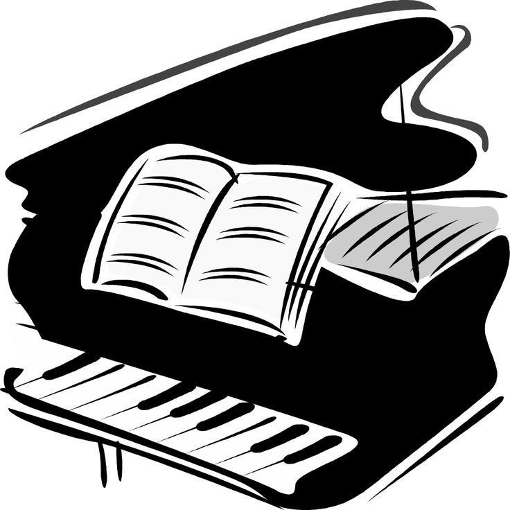 Piano clipart mini Best piano Cartoon Notes Pinterest