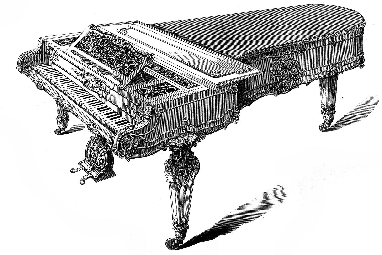Piano clipart old west Clipartwork (2486) — Grand Images