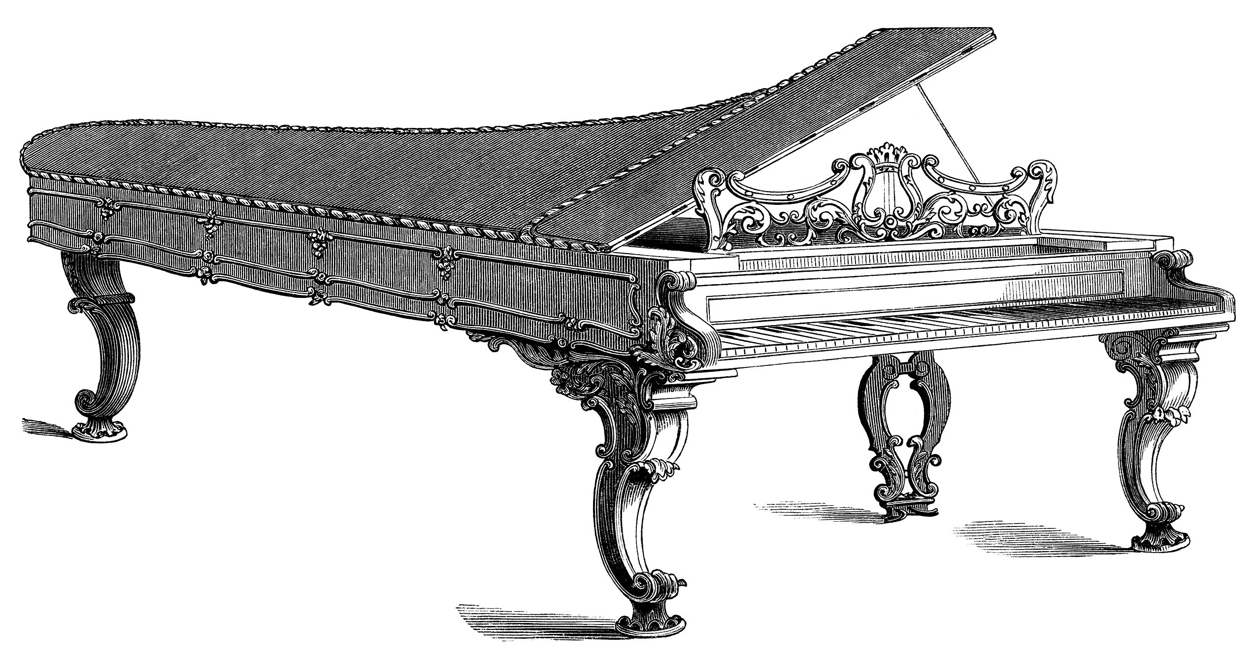 Piano clipart old west Free Clipartwork Piano — Clipart