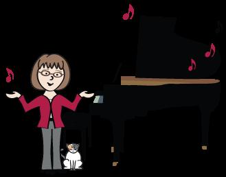 Piano clipart piano lesson Library Lessons Piano Clipart Art