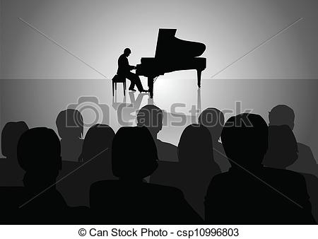 Piano clipart piano recital Of vector a  Piano