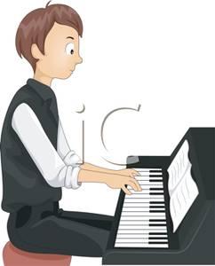 Piano clipart play piano Boy Teen Free Piano Royalty