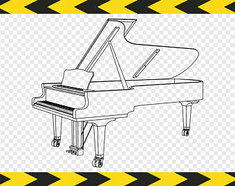 Piano clipart printable Svg Pdf Dxf Piano art