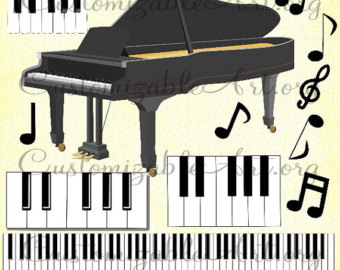 Piano clipart printable Studio Piano Digital Music Notes