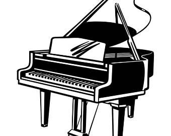 Piano clipart printable Musical Clipart Digital Cricut Etsy