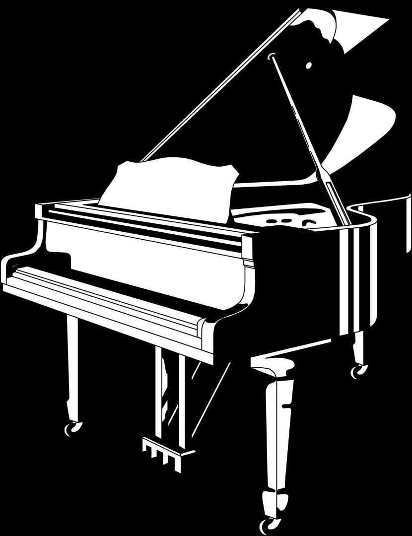 Piano clipart side view Piano White Black Clipart Piano