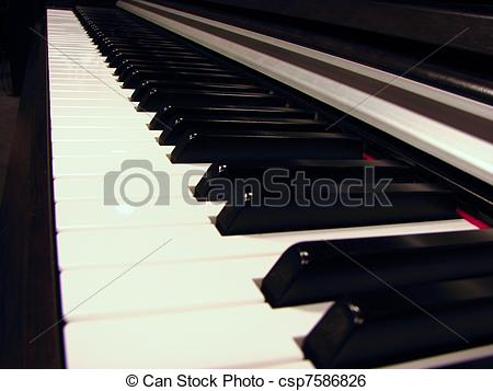 Piano clipart side view Image Stock an keys piano