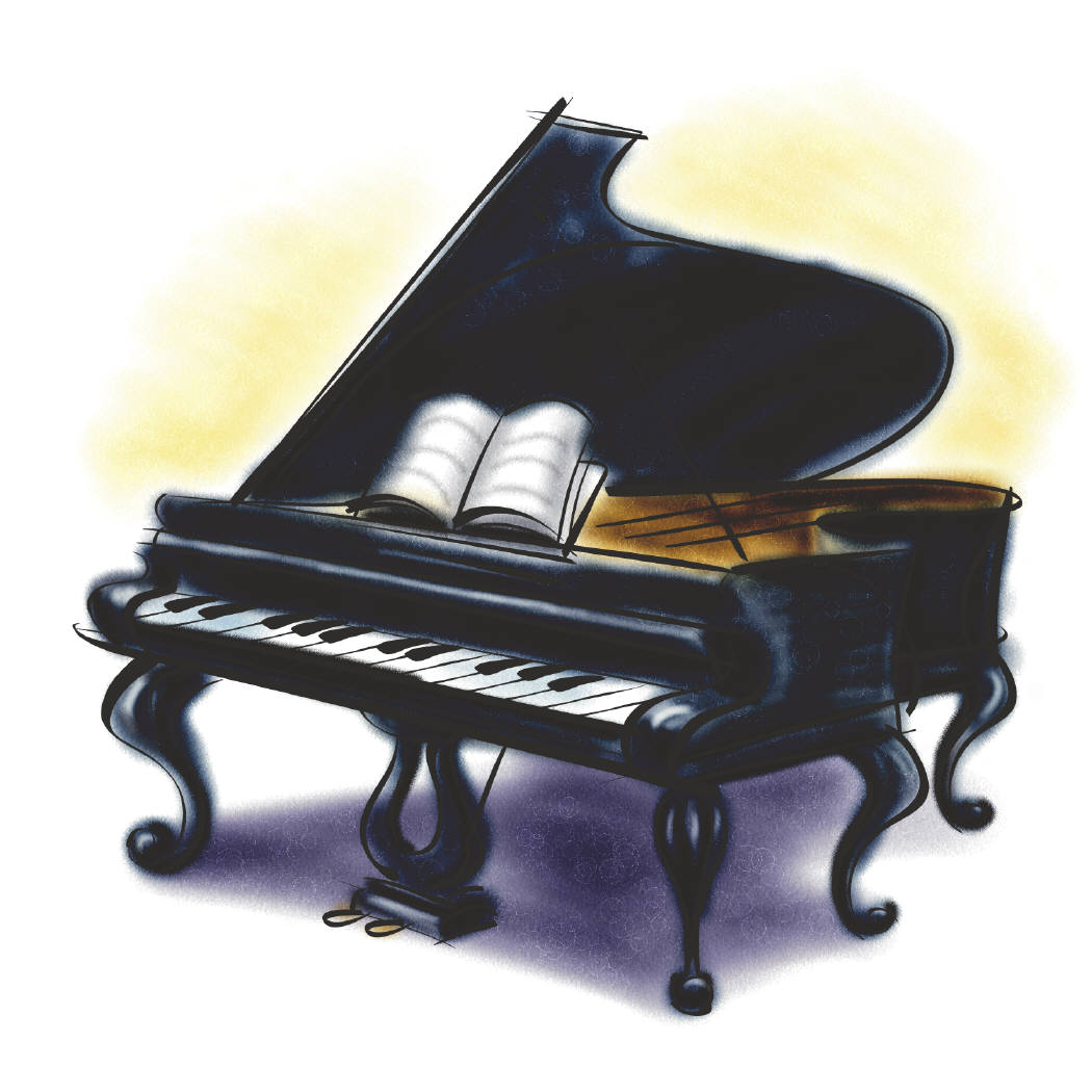 Piano clipart side view Grand View Others and Clipart