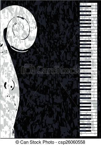 Piano clipart violin  piano Violin of Black