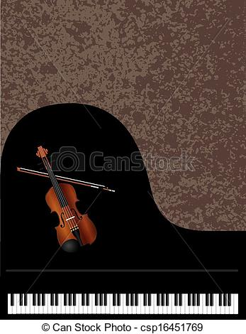 Piano clipart violin With and and csp16451769 of