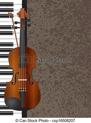 Piano clipart violin Illustration with Violin csp16508207 Piano