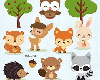 Rabbit clipart forest animal #5