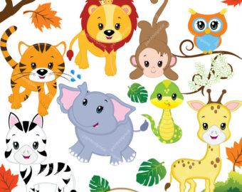 Animal clipart safari animal Jungle woodland  animal Safari