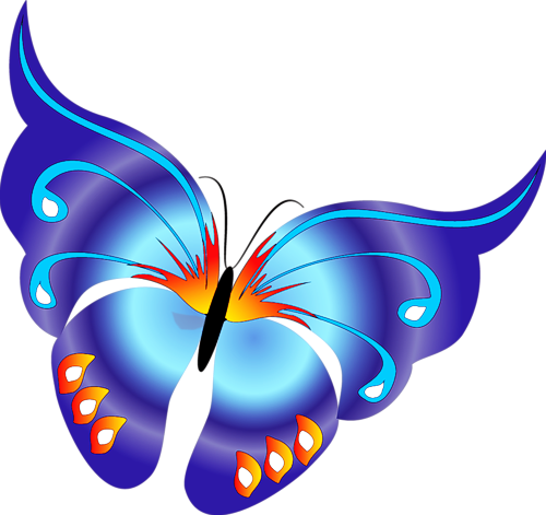 Blue Rose clipart colorful flying butterfly Collection free Free animated Free