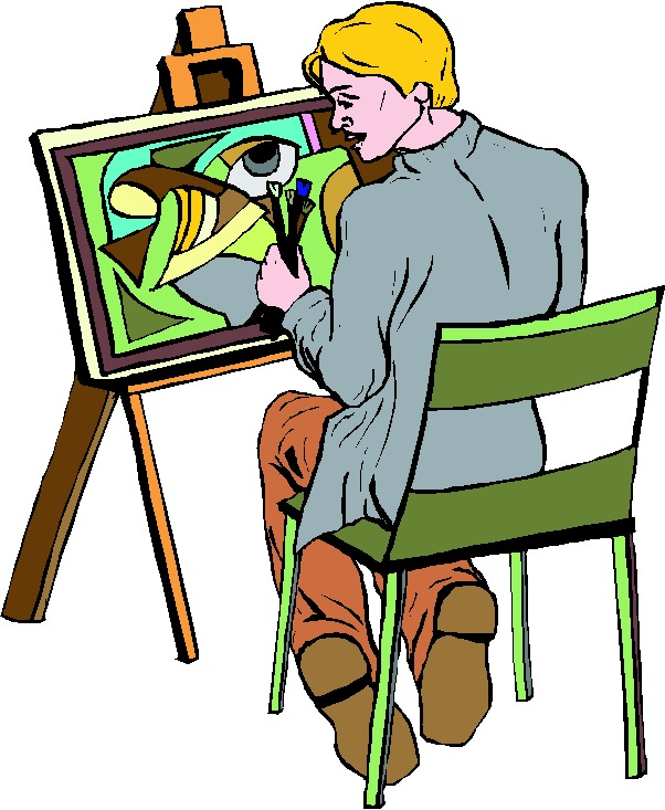 Artistic clipart person painting Painter image Artist #23379 Artist