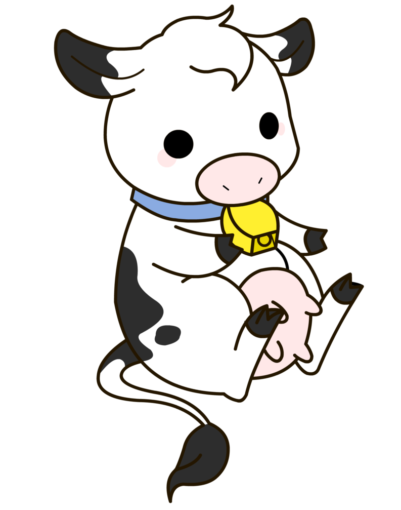 Drawn cattle baby cow #1