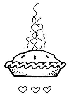 Pice clipart black and white Baked clip 2 clipart Pie