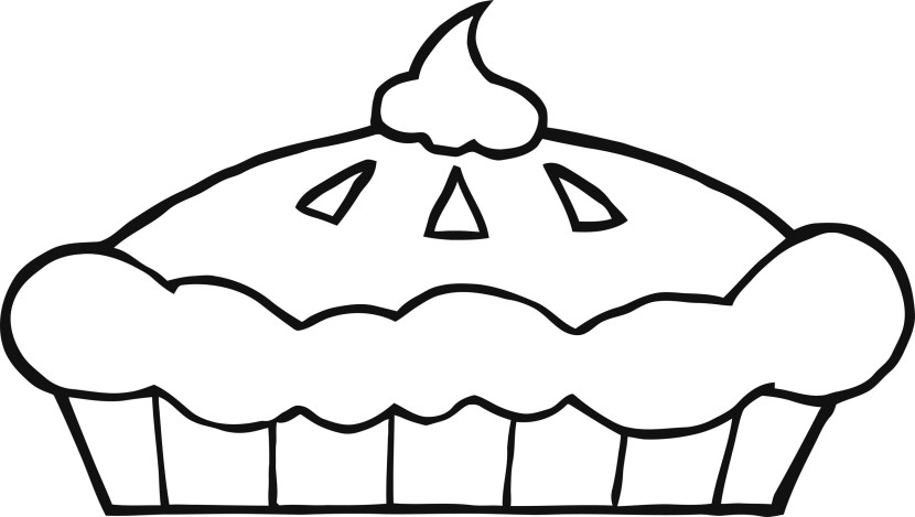 Pice clipart black and white Pie and clipart Pie Clip