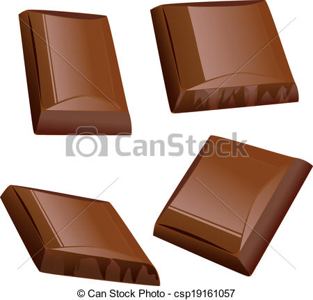 Pice clipart chocolate Chocolate Of Pieces  Clipart