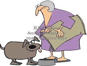 Pice clipart feed dog Woman The Feeding Clipart Feeding