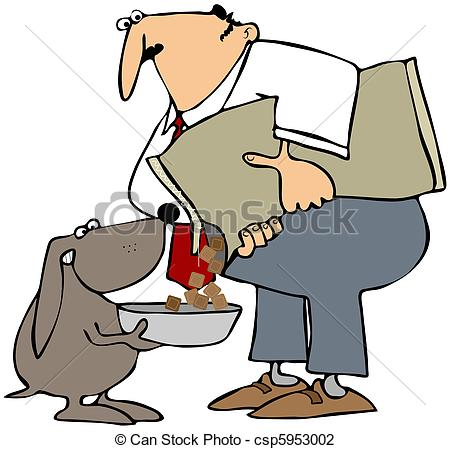 Pice clipart feed dog A csp5953002 of Clip depicts