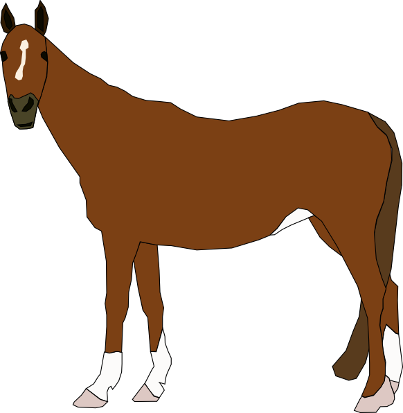 Brown clipart pony Horse image vector Art royalty