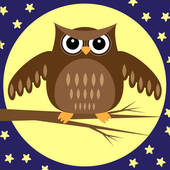 Night clipart night owl Night owl Clipart owl night