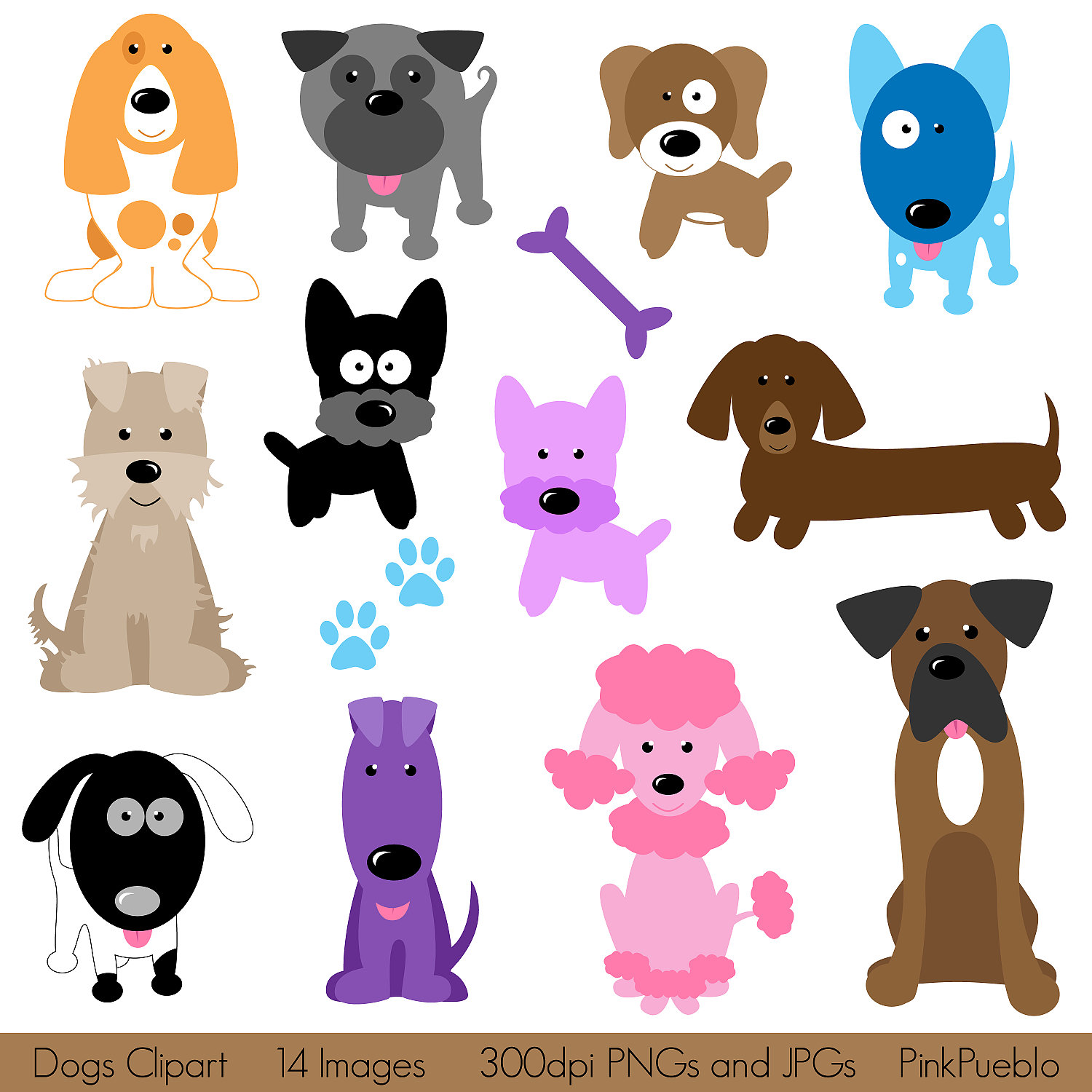 Pet clipart baby dog Vectors Clipart Commercial Puppy Art