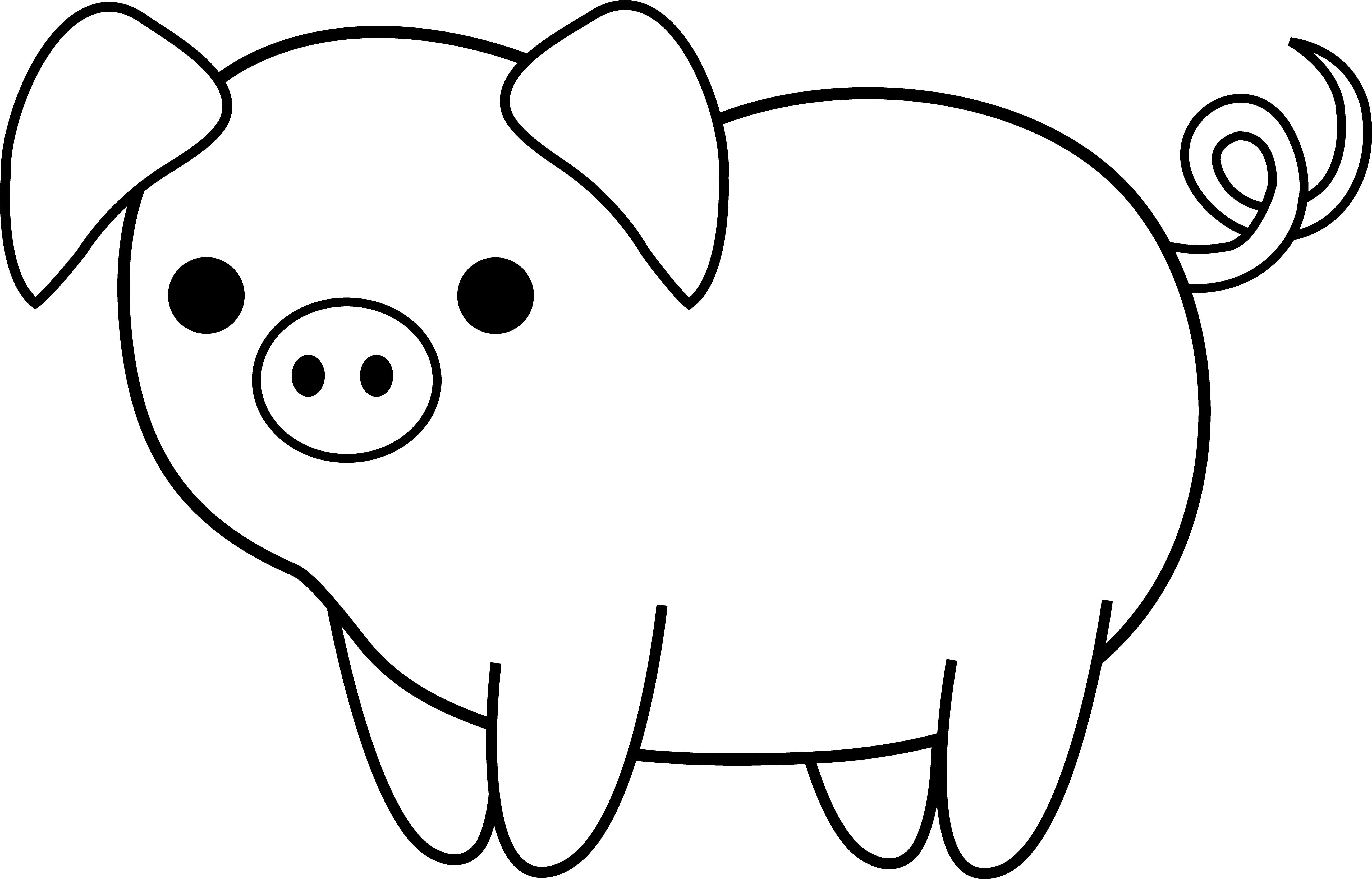 Simple clipart pig #10
