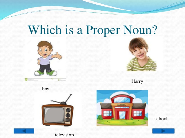 Nouns television school Harry and