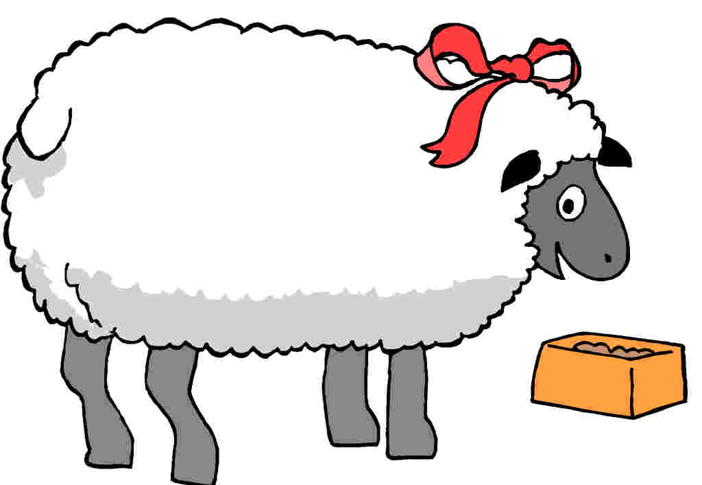 Sheep clipart cartoon #3
