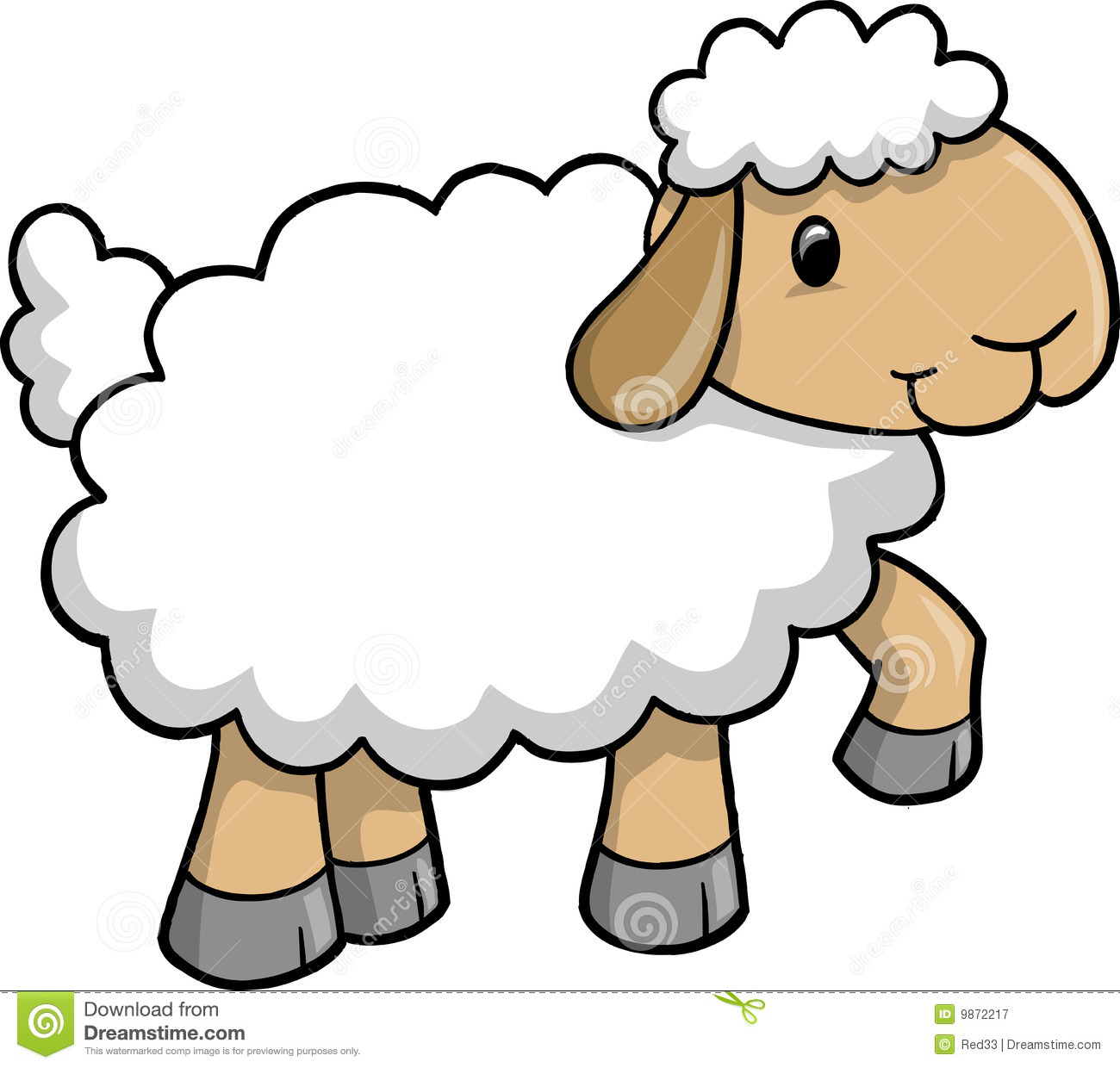 Sheep clipart for kid #1
