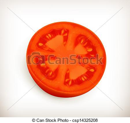 Pice clipart tomato Slice Search of vector Slice