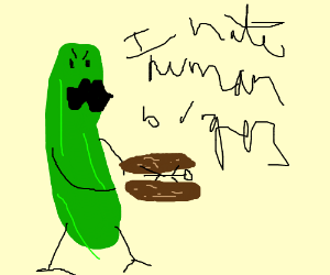 Pickle clipart human His human in unwanted gets