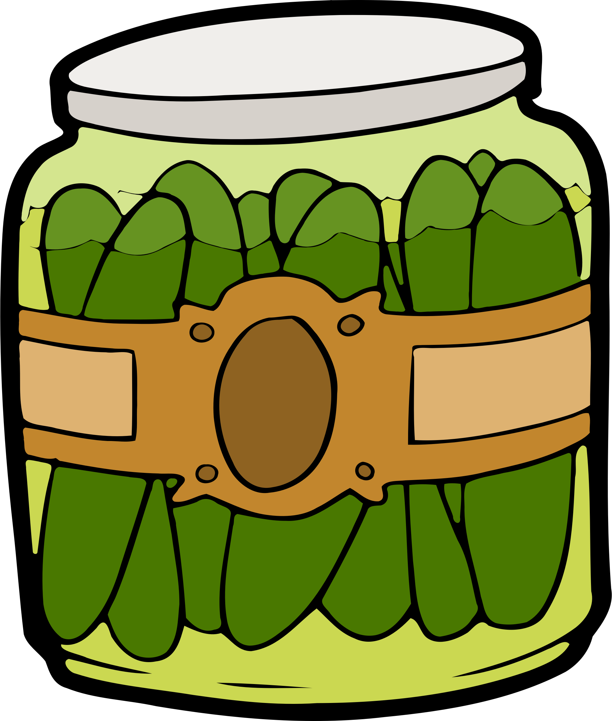 Pickle clipart transparent In a Jar Clipart Pickles