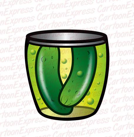 Pickles clipart cartoon Vector cartoon pickles illustration
