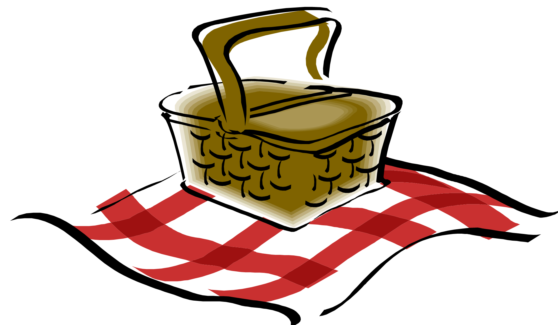 Basket clipart summer picnic Clipartix art art Picnic basket
