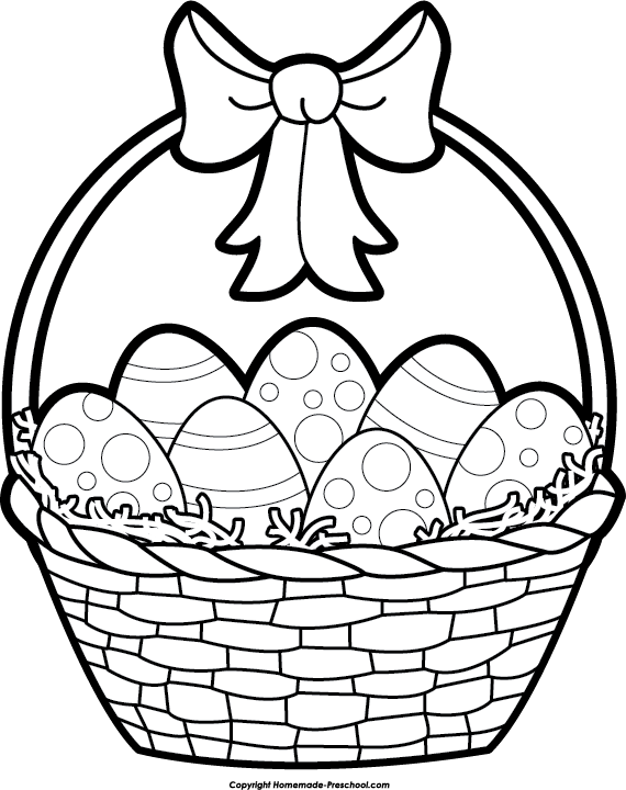 Basket clipart black and white And Basket white clipart clipart