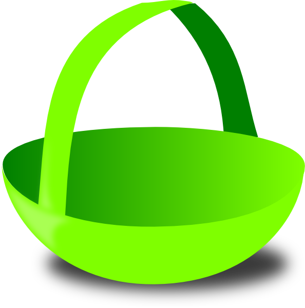 Basket clipart empty bag Art vector at clip this