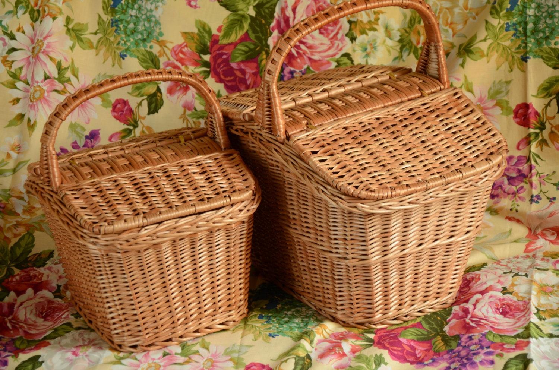 Picnic Basket clipart market basket Item? Picnic Willow Wicker Handmade