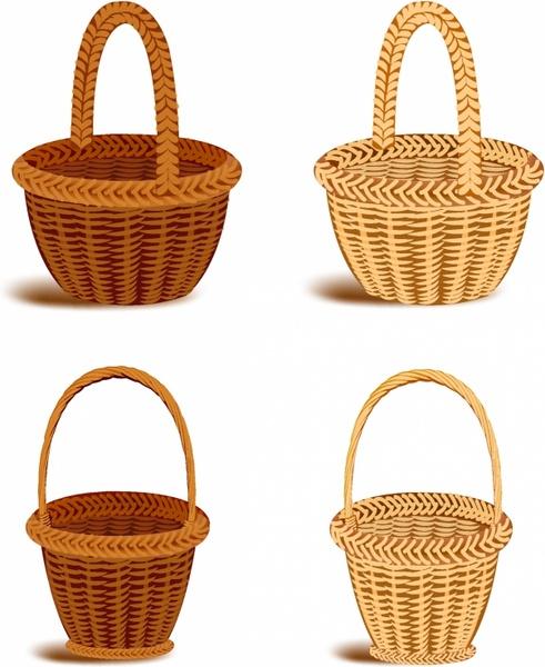 Picnic Basket clipart market basket 04 market  vector Vector