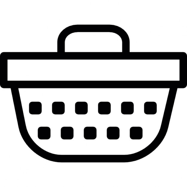Picnic Basket clipart outline Free Icons Free Picnic basket